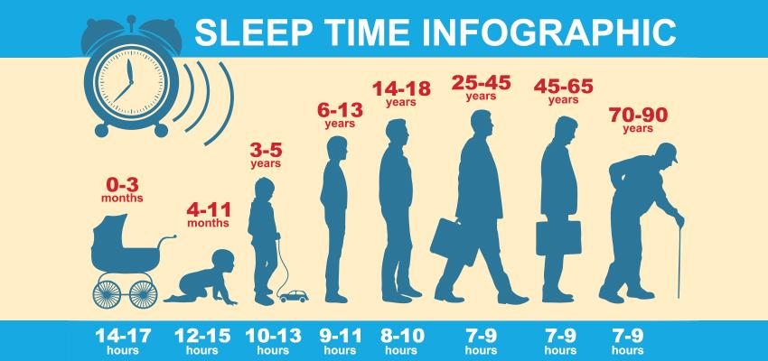 sleep time infographic
